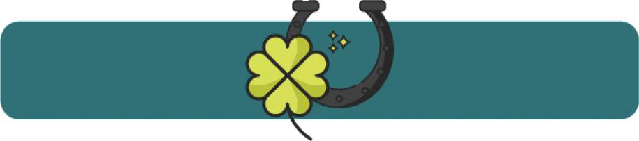 Trèfle à quatre feuilles fer à cheval dessin